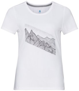 T SHIRT S/S CREW NECK F DRY PRINT - WHITE   GRAPHIC SS21