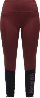LIM COMP Q TIGHTS - MAROON RED/TRUE BLACK