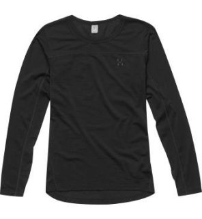 ACTIVES WOOL Q ROUNDNECK - TRUE BLACK