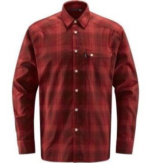 TARN FLANNELL SHIRT - MAROON RED/BRICK RED