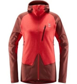 SPIRE MID Q HOOD - MAROON RED/HIBISCUS RED