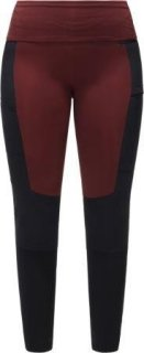 FJELL HYBRID Q TIGHTS - MAROON RED/TRUE BLACK