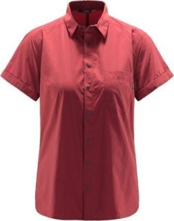 IDUN LITE SS Q SHIRT - BRICK RED