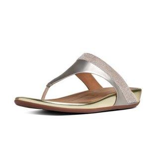 Banda TM micro-crystal toe-post - pale gold
