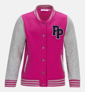 JR BASEBALL JACKET - Bright Pink