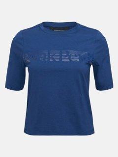 BOUNCE PRINTED TEE W - CIMMERIAN BLUE