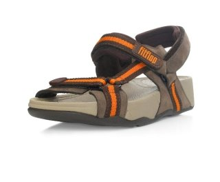 Hyker TM boy - chocolate/orange (leather)