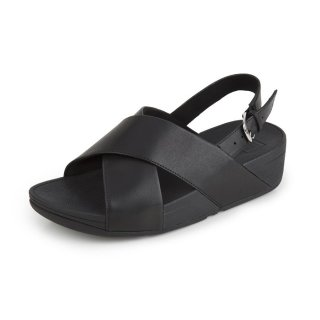 LULU TM CROSS BACK-STRAP SANDALS LEATHER - BLACK CO