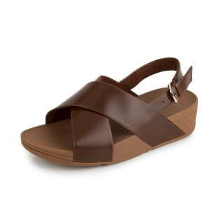 LULU TM CROSS BACK-STRAP SANDALS LEATHER - CARAMEL es