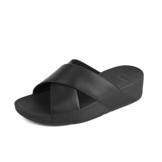 LULU TM CROSS LSIDE SANDALS LEATHER - BLACK CO