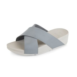 LULU TM CROSS LSIDE SANDALS LEATHER - DOVE BLUE es