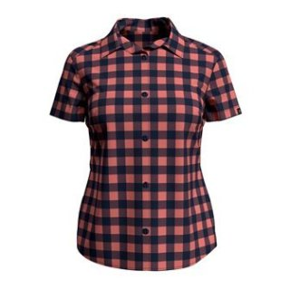 BLOUSE S/S MYTHEN - LANTANA   DIVING NAVY   CHECK