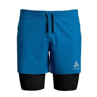 2 IN 1 SHORTS MILLENNIUM PRO - BLUE ASTER   BLACK