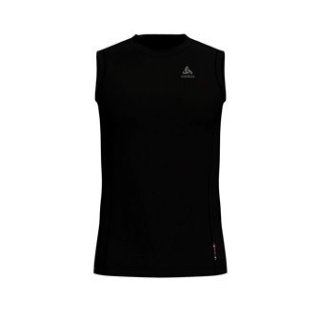 BL TOP CREW NECK SINGLET MERINO 130 - BLACK