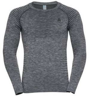 BL TOP CREW NECK L/S PERFORMANCE LIGHT - GREY MELANGE
