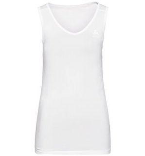 BL TOP V NECK SINGLET PERFORMANCE X LIGH - WHITE