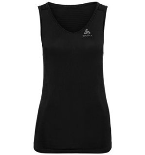 BL TOP V NECK SINGLET PERFORMANCE X LIGH - BLACK