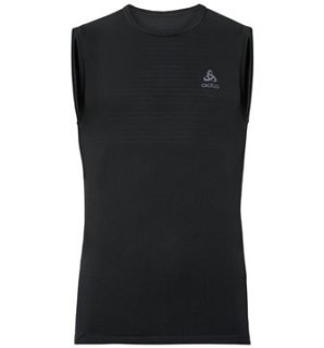 BL TOP CREW NECK SINGLET PERFORMANCE X L - BLACK
