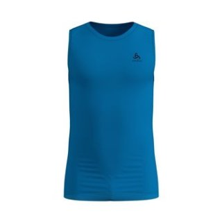 BL TOP CREW NECK SINGLET ACTIVE F DRY LI - BLUE ASTER