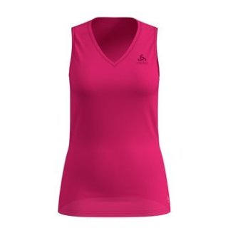 BL TOP V NECK SINGLET ACTIVE F DRY LIGHT - BEETROOT PURPLE