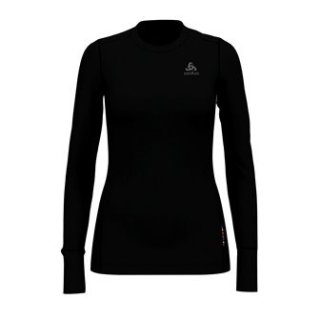 BL TOP CREW NECK L/S NATURAL 100% MERINO - BLACK   BLACK