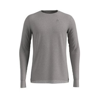 BL TOP CREW NECK L/S NATURAL 100% MERINO - GREY MELANGE   GREY MELANGE