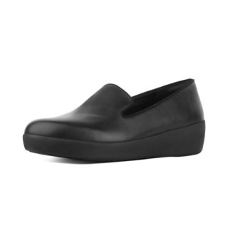 AUDREY SMOKING SLIPPERS - ALL BLACK