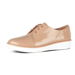 DERBY CRINKLE PATENT - TAUPE