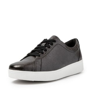 RALLY CRINKLE SHIMMER SNEAKERS - ALL BLACK AW02