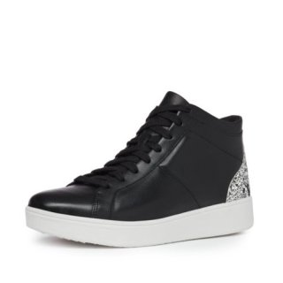 RALLY GLITTER HIGH TOP SNEAKERS - BLACK MIX AW02