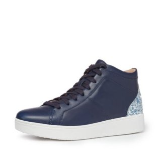 RALLY GLITTER HIGH TOP SNEAKERS - MARITIME BLUE AW02