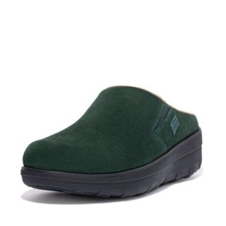 LOAFF SUEDE CLOGS - RACING GREEN