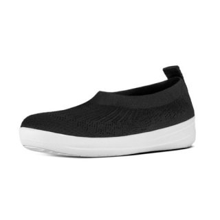ÜBERKNIT TM SLIP-ON BALLERINA WITH BOW - BLACK CO