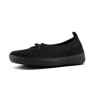 ÜBERKNIT TM SLIP-ON BALLERINA WITH BOW - ALL BLACK es