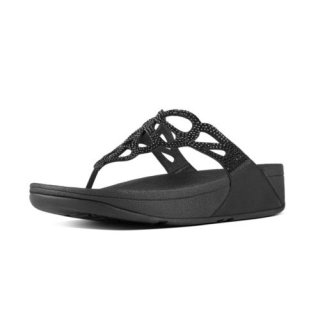 BUMBLE CRYSTAL TOE POST - BLACK es