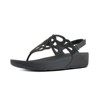 BUMBLE CRYSTAL TM SANDAL - BLACK