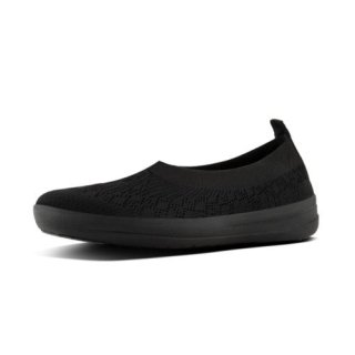 ÜBERKNIT TM SLIP-ON BALLERINA - ALL BLACK CO