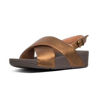 LULU LEATHER BACK-STRAP SANDALS - BRONZE CO