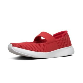 AIRMESH - MARY JANES - PASSION RED