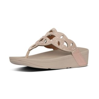 ELORA CRYSTAL TOE THONGS - ROSE GOLD
