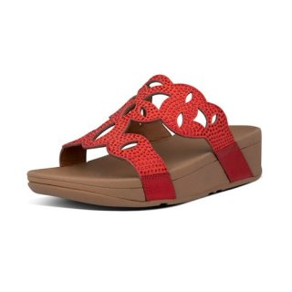 ELORA CRYSTAL SLIDES - RED