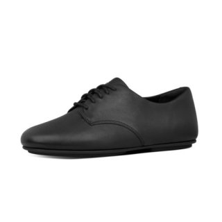 ADEOLA LEATHER LACE UP DERBYS - ALL BLACK CO AW01