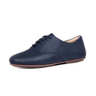 ADEOLA LEATHER LACE UP DERBYS - MIDNIGHT NAVY CO AW01