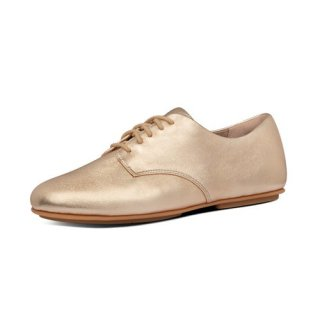 ADEOLA LEATHER LACE UP DERBYS - VINTAGE GOLD