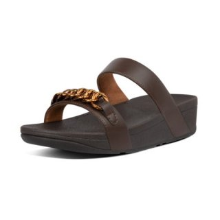 LOTTIE CHAIN SLIDES - CHOCOLATE BROWN