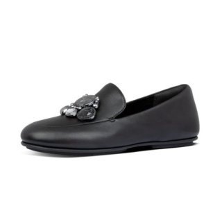 LENA CLUSTER LOAFERS - BLACK