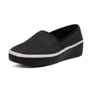 CASA ESPADRILLE LOAFERS - BLACK