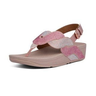 PAISLEY ROPE BACK STRAP SANDALS - SOFT PINK