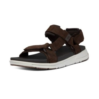 SPORTY BACK STRAP SANDALS - CHOCOLATE BROWN
