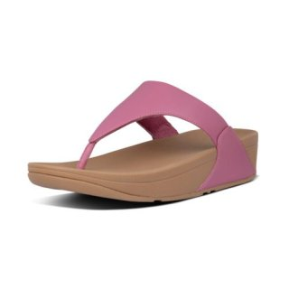 LULU LEATHER TOE POST - HEATHER PINK